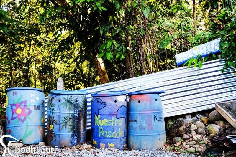 Surf camp compost site