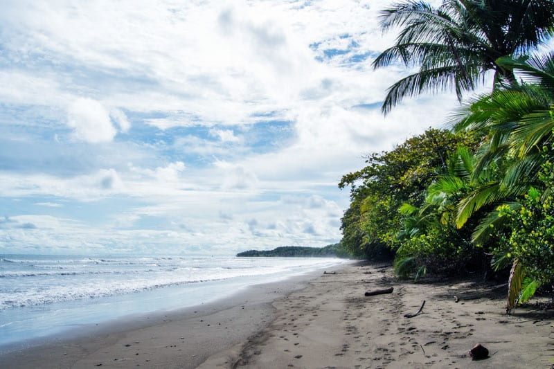 Pristine beach in Costa Rica