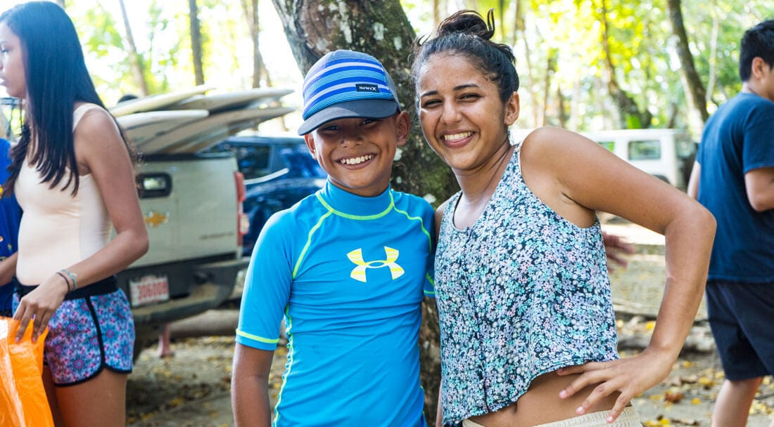 Kids at Bodhi Surf + Yoga beach cleanup