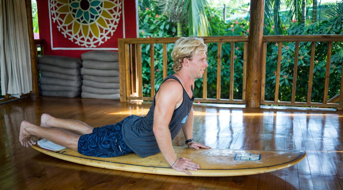 Cobra Yoga Pose for Surfers