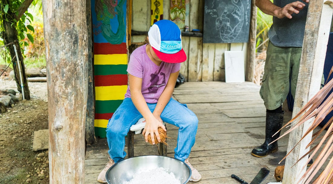 Learning how to make coconut oil